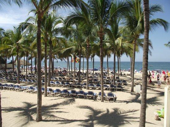 Hotel Riu Vallarta : Beach area - plenty of loungers