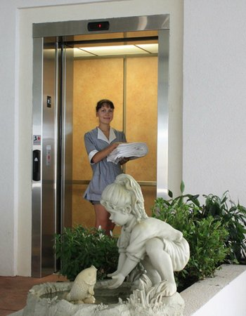 Crystal Beach Motor Inn: Elevator & Maid Service