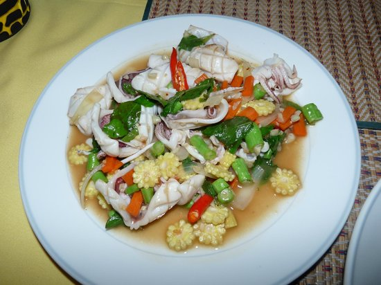 Pen Villa Hotel: Chilli Squid - MUST TRY!