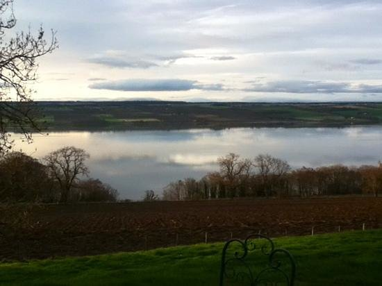 Highland Farm Cottages: view from the cottage