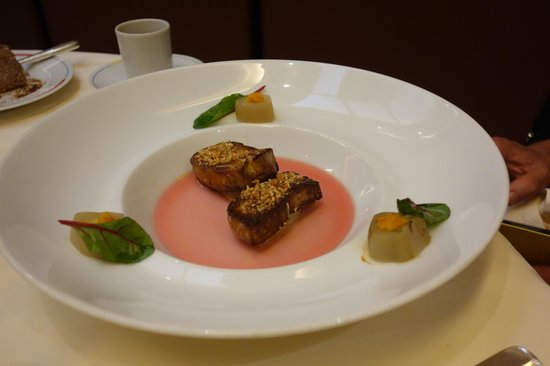 Restaurant Guy Savoy : Duck livers and Bancha tea