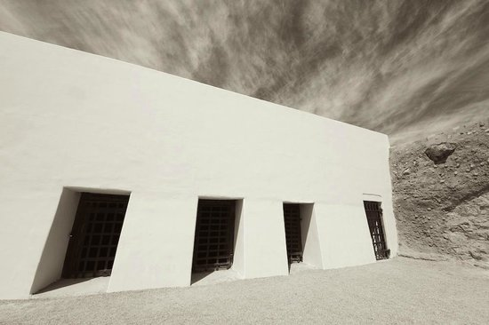 Yuma Territorial Prison State Historic Park : Black and White view