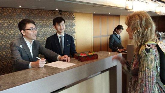 Renaissance Hong Kong Harbour View Hotel Fabulous Front Desk Staff