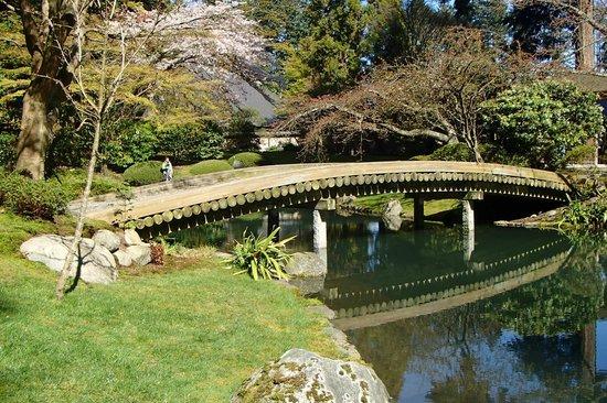 Nitobe Memorial Garden: 77-log bridge