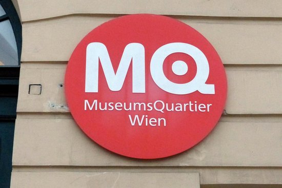 MuseumsQuartier Wien: Museum Quarter sign