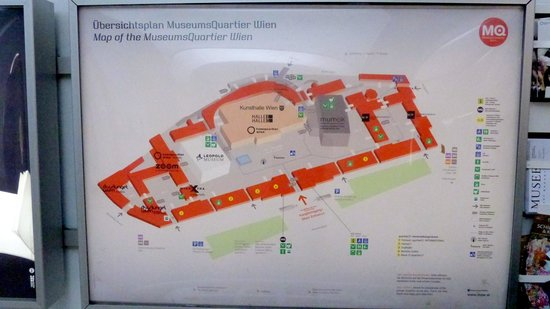 MuseumsQuartier Wien: MuseumQuarter layout
