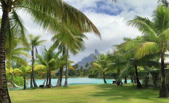 The St. Regis Bora Bora Resort: View from spa