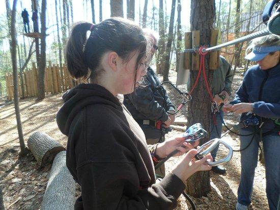 Go Ape Treetop Adventure Course: Safety training