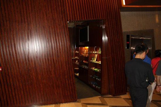 Harbour Plaza 8 Degrees: Lift foyer askance