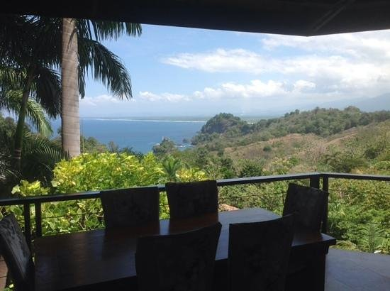 Tulemar Resort: View from deck upstairs. Villa 414.
