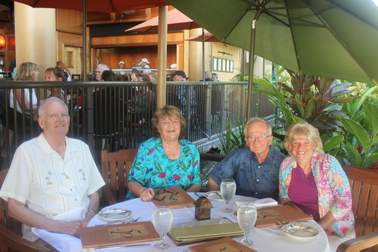 5 Palms Restaurant : Celebrating our 50th Anniversary.  Husband does not look too happy but he actually was. lol