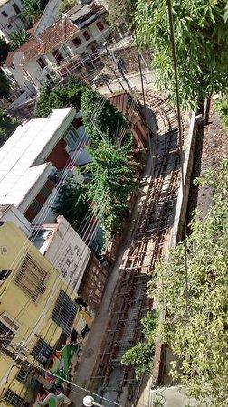 Rio Hostel & Suites Santa Teresa: Vista das obras do bonde