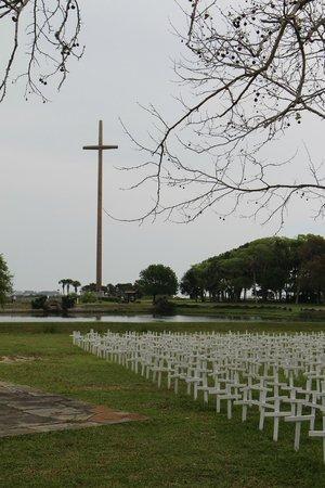 Mission of Nombre de Dios: Big cross from museum