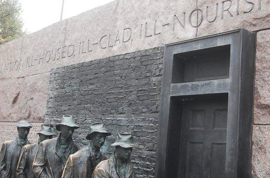 Franklin Delano Roosevelt Memorial: Roosevelt memorial, bread line