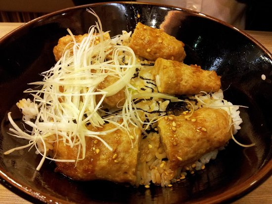 Beppu Ekimae : Minced chicken rice dish