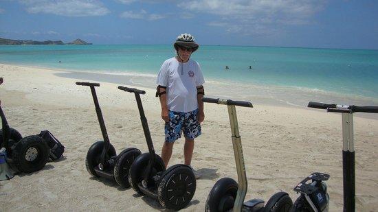 Segway Antigua Tours: Segway on the beach