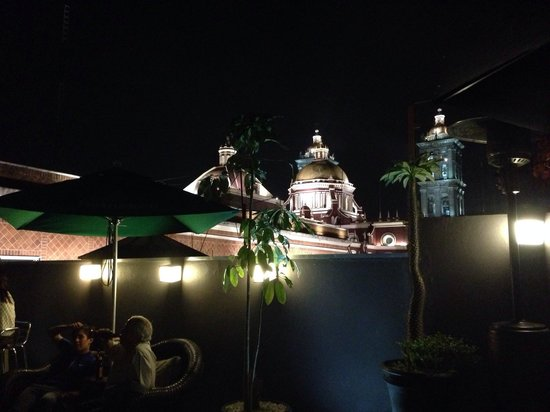 Hotel Puebla de Antano: Vista de la terraza, extraordinaria!!!