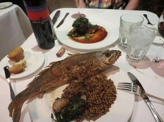 Nola Restaurant: Whole trout and filet mignon! Delicious!!
