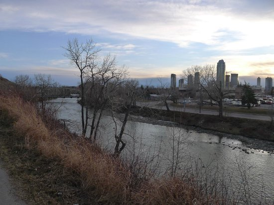 City Centre Riverpath Bed & Breakfast: View of Elbow River near Riverpath B&B