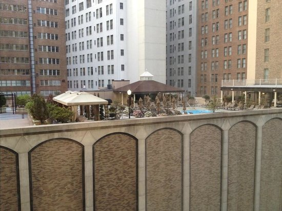 Renaissance New Orleans Pere Marquette French Quarter Area Hotel: What a tease!  Fairmont Roosevelt Hotel pool across the street