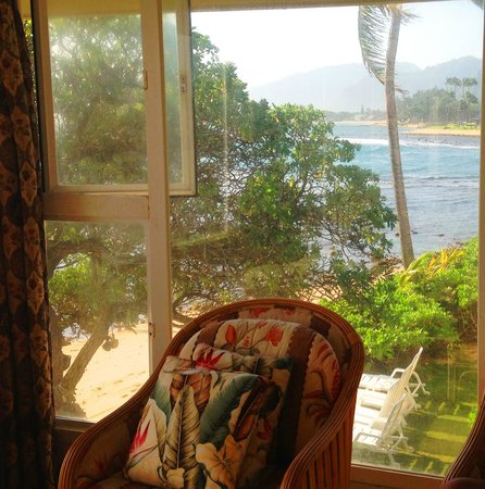 Hale Ko'olau : View from side window in living room