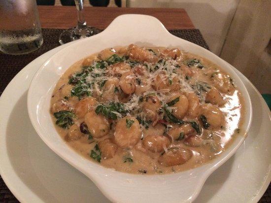 Piazza Pascal: Gnocchi with Gorgonzola sauce.