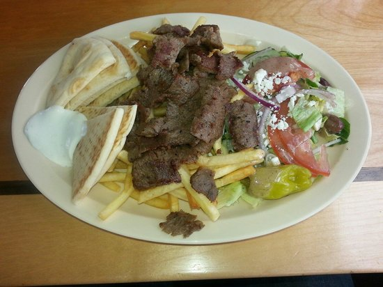 Spiro's Gyros Greek Restaurant: Gyro platter at Spiros. Consistently Awesome!