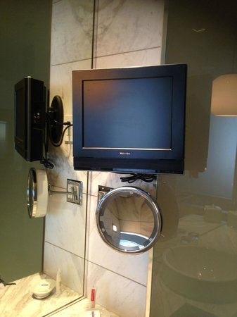 Palms Place Hotel and Spa: Bathroom tv