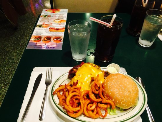Mel's Drive-In - Mission St. : Mels supreme burger with twisted fries