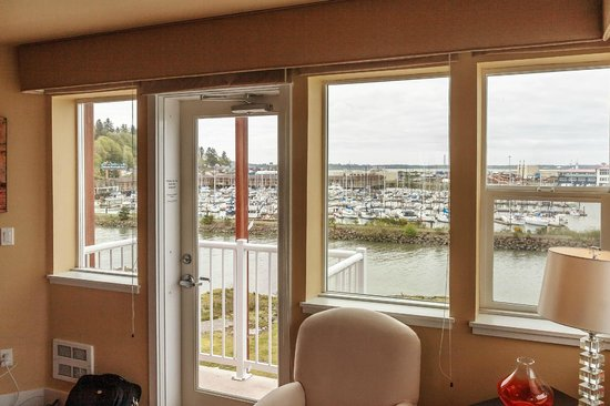 Cannery Pier Hotel : View from master bedroom of Pilot House