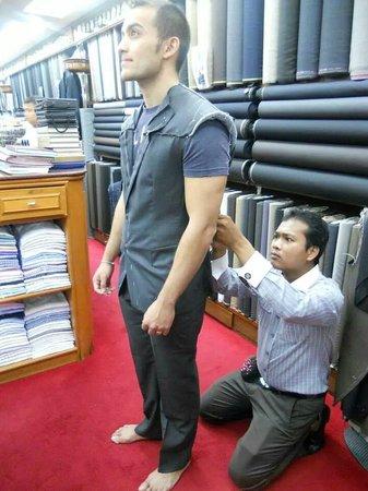 Rajawongse Clothier : 2nd Fitting, Jacket getting sized up.