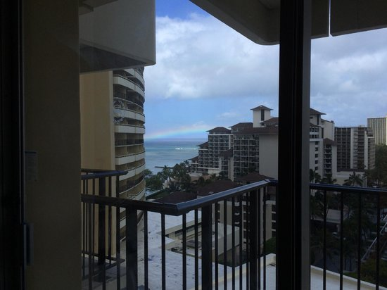 """Sheraton Waikiki: Although we had a """"City View"""" room, we were happy to be able to see a glimpse of the ocean - rm"""