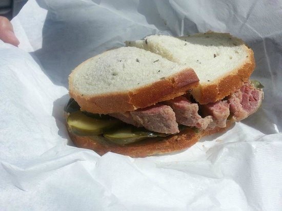 Steve S Salt Beef Bar Ltd Salt Beef Sandwich On Rye With Gherkins
