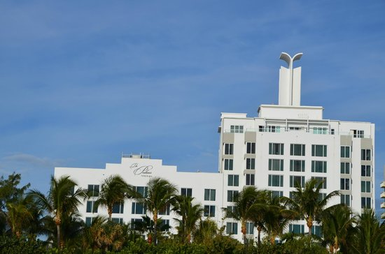 The Palms Hotel & Spa: hotel view from the beach