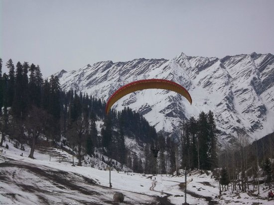 Citrus Manali Resorts: Paragliding at solang valley