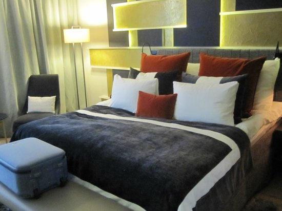 Bed with a lot of pillows Picture of THE THIEF Oslo TripAdvisor