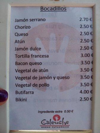 Caleuche: Ontbijt-keuze