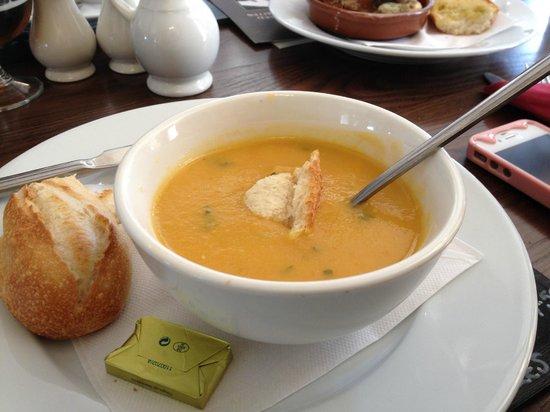 Shepherds Inn Langwathby: Freshly made soup