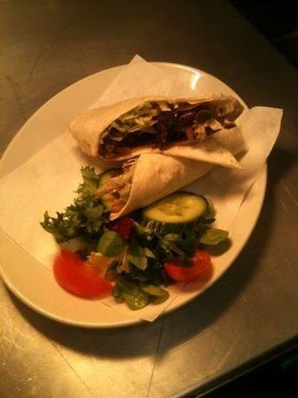 The Newton Arms: Steak and onion wrap