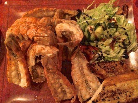 Hotel Smyrlabjorg: Lobster tails - yummy!