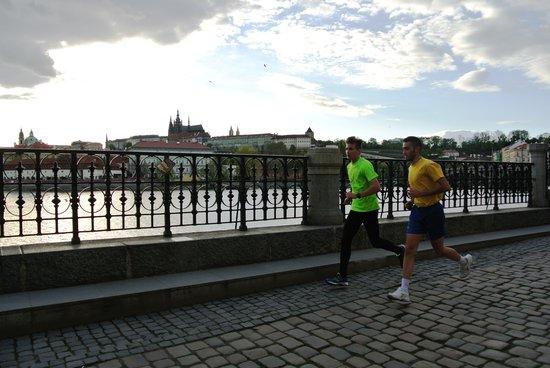 Running Tours Prague: Running in Prague during a sunset