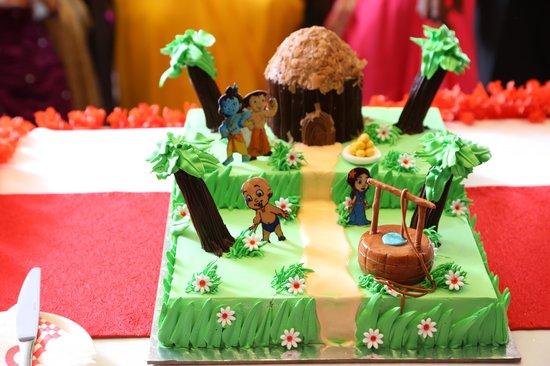 Aarush 1st Birthday Party Chota Bheem Cake Picture Of Eclair