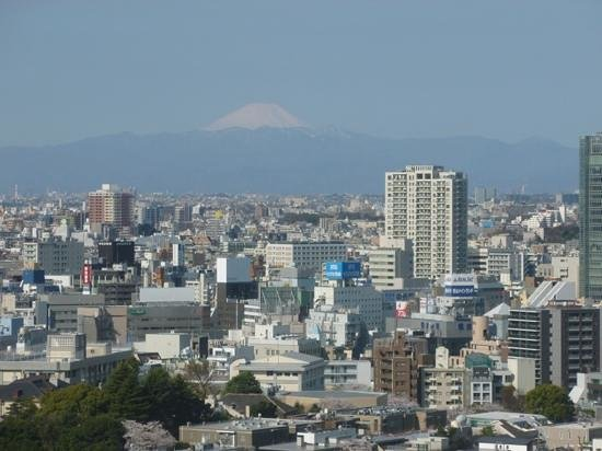 Keikyu EX Inn Shinagawa Ekimae : vew from room - like all of Tokyo before me, and most exciting of all, Mount Fuji!