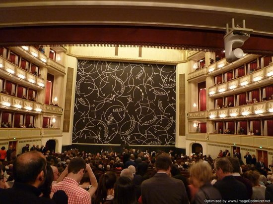 """Staatsoper: View from the """"parterre"""" standing area"""