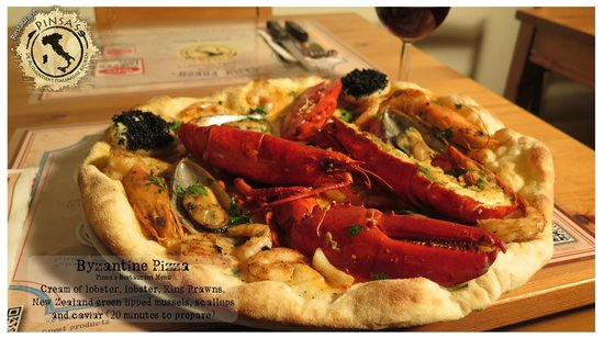 Pinsa's Restaurant: Byzantine Pizza: the most expensive pizza in the Netherlands!