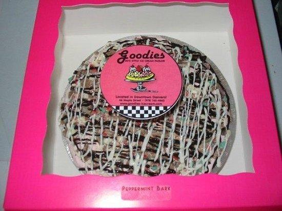 Goodies 50's Style Ice Cream Parlor: Peppermint Bark Ice Cream Pie!