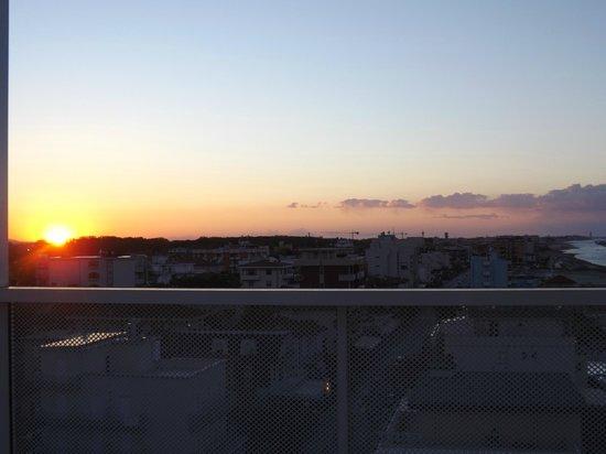 Residence Terminus : tramonto dal terrazzo