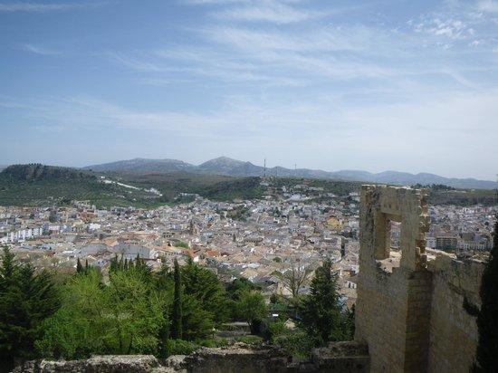 Fortaleza de la Mota: View over the town