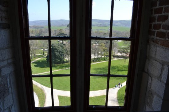 Lulworth Castle & Park: Window view from the Tower