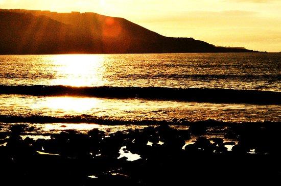 Playa de Las Canteras: Tramonto las canteras